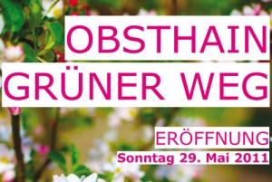 Einladung zur Eröffnung OBSTHAIN GRÜNER WEG